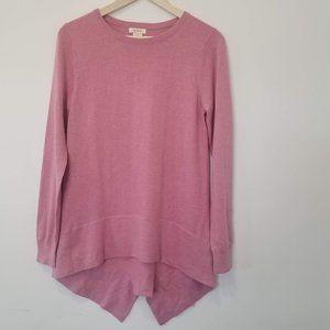 Sundance Pink Asymmetrical Hem Sweater Small